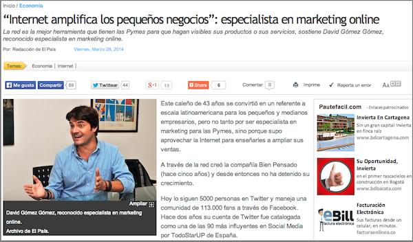 Entrevista Periodico El Pais